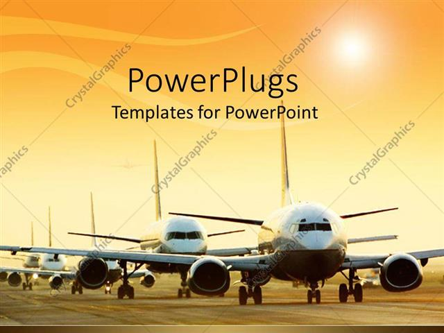 Powerpoint template airplanes queued on runway in airport 1471 powerpoint template displaying airplanes queued on runway in airport toneelgroepblik Choice Image