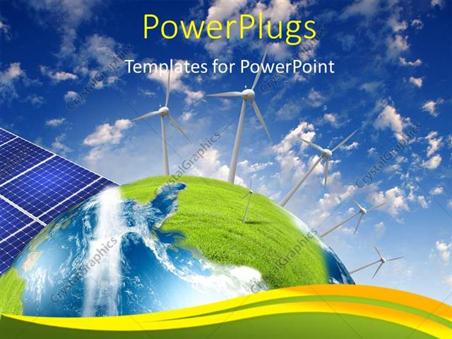 Powerpoint Template Alternative Energy Source With Solar Panels And