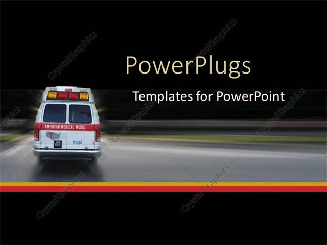 Powerpoint template ambulance going to hospital for emergency at powerpoint template displaying ambulance going to hospital for emergency at night black background toneelgroepblik Image collections