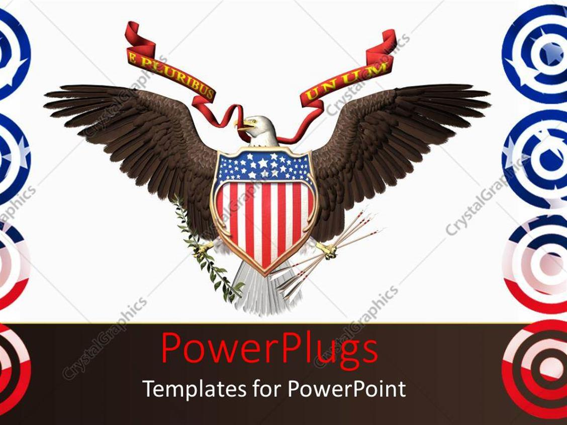 powerpoint template an america n hawk with white background 1729. Black Bedroom Furniture Sets. Home Design Ideas