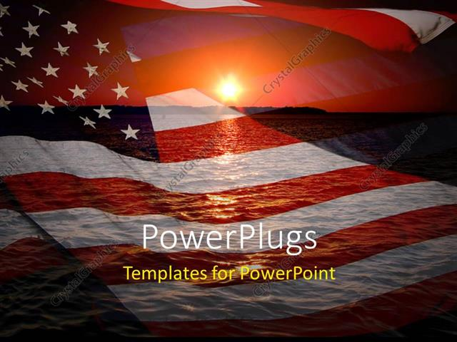 Powerpoint template america patriotic concept with sunrise over powerpoint template displaying america patriotic concept with sunrise over ocean toneelgroepblik Image collections