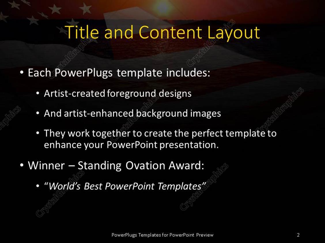 Powerpoint template america patriotic concept with sunrise over powerpoint products templates secure toneelgroepblik Gallery