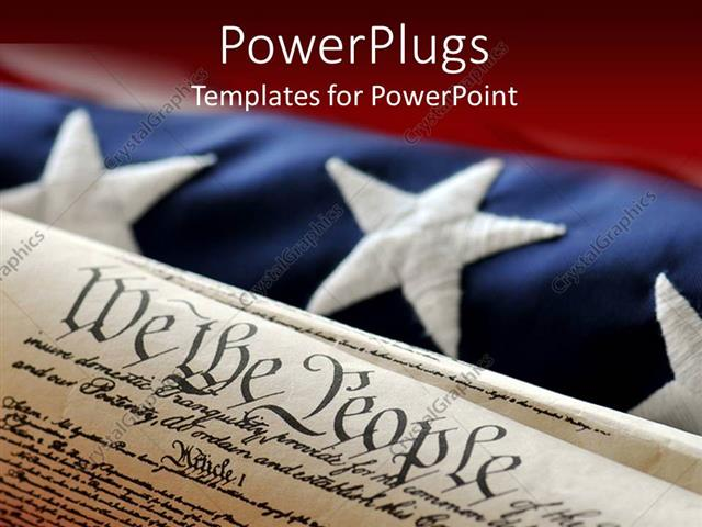 Powerpoint template an american flag in the background while the powerpoint template displaying an american flag in the background while the constitution in the front toneelgroepblik