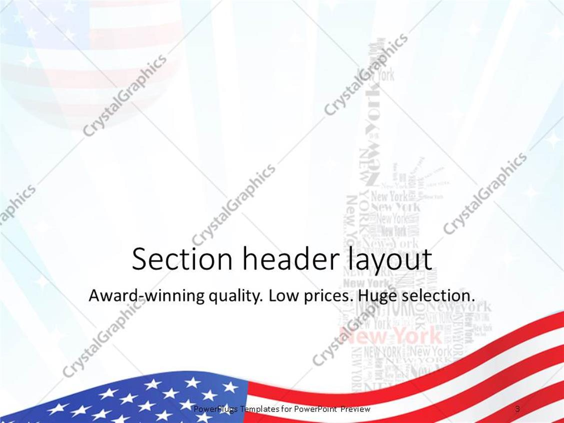Powerpoint template american flag over abstract background with powerpoint products templates secure toneelgroepblik Images