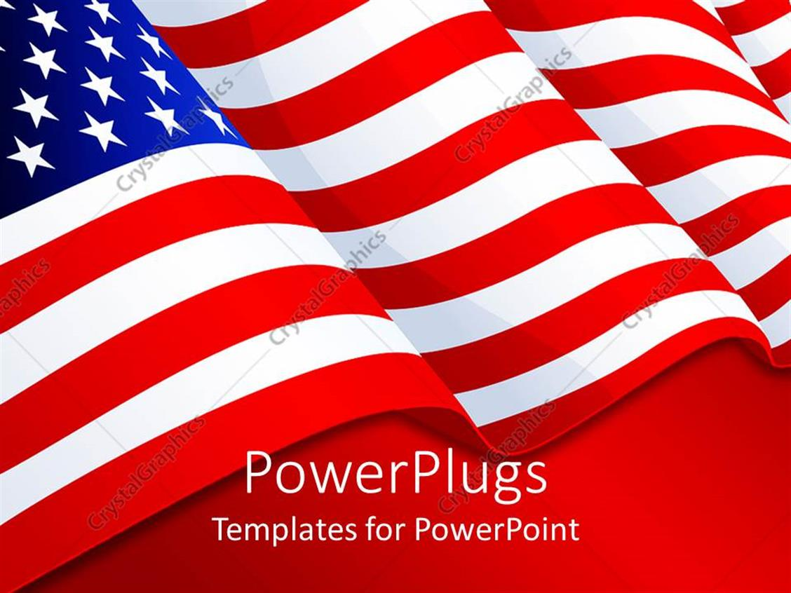 american flag powerpoint template images professional