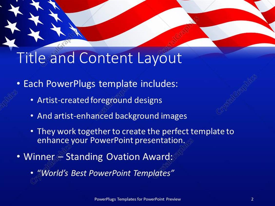Powerpoint template american flag patriotic background with stars powerpoint products templates secure toneelgroepblik Choice Image