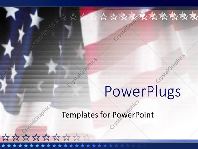 powerpoint template american flag patriotic on faded background 18037