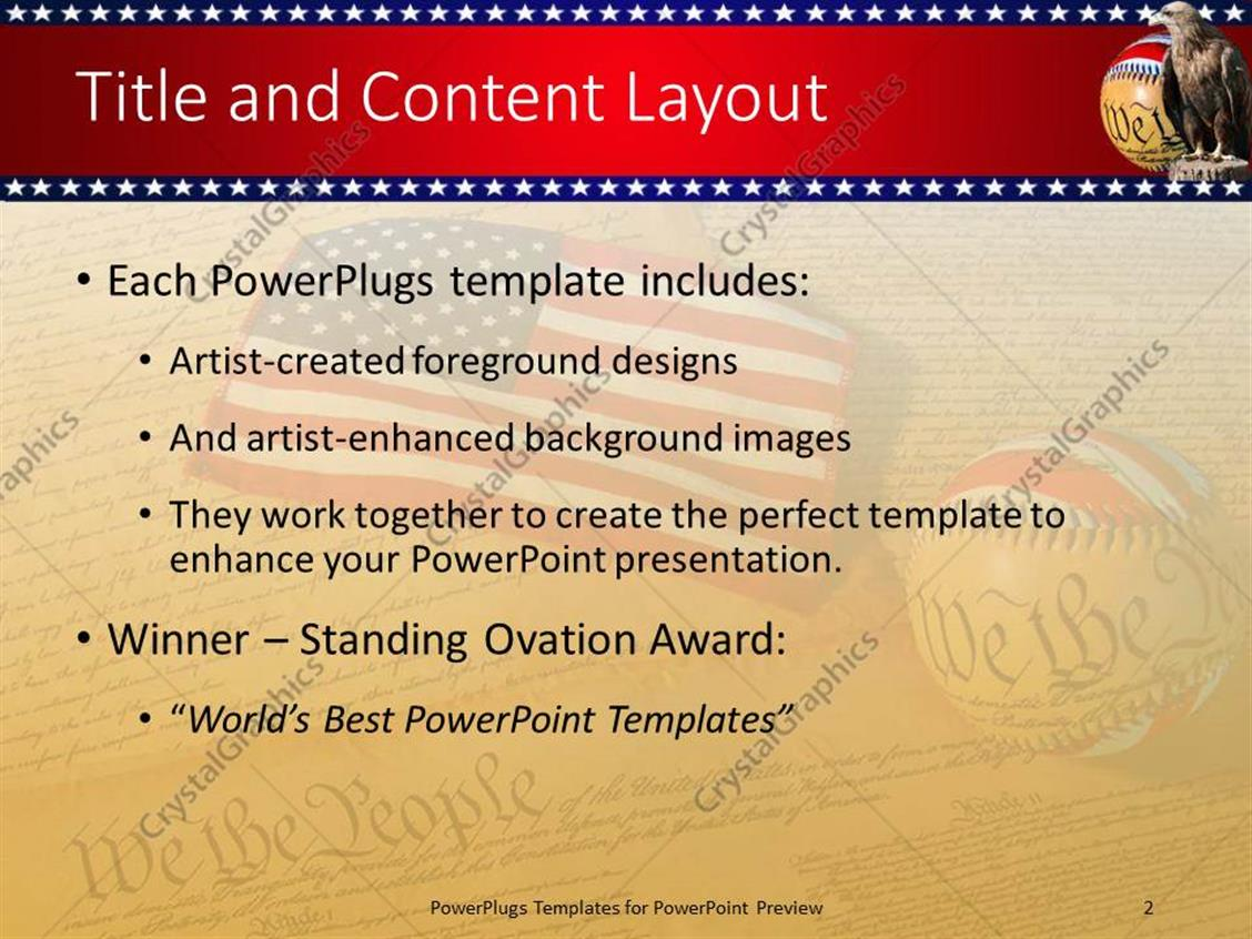 Powerpoint template american flag sitting on the constitution of powerpoint products templates secure toneelgroepblik