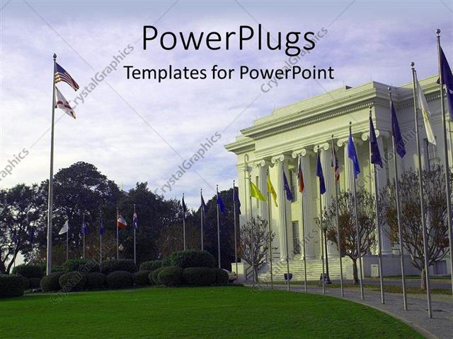 Powerpoint Template American Government House With Different
