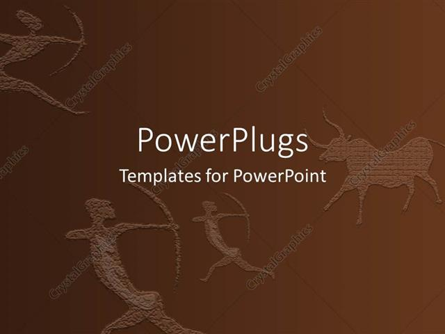 Powerpoint template ancient wall drawing showing three people with powerpoint template displaying ancient wall drawing showing three people with bows and arrows pointing toneelgroepblik Image collections