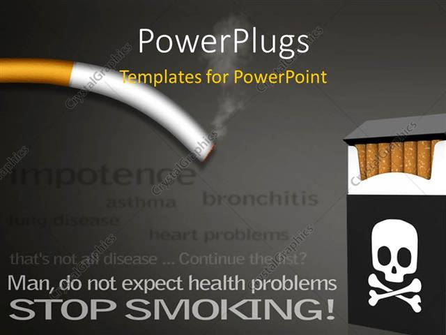 Powerpoint template anti smoking campaign poster showing list of powerpoint template displaying anti smoking campaign poster showing list of health problems caused by toneelgroepblik Images