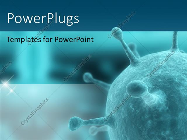 Powerpoint Template Antivirus Artery Bacteria Biology Blood Cell In