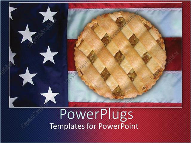 Powerpoint template apple pie sitting on american flag 1611 powerpoint template displaying apple pie sitting on american flag toneelgroepblik Choice Image
