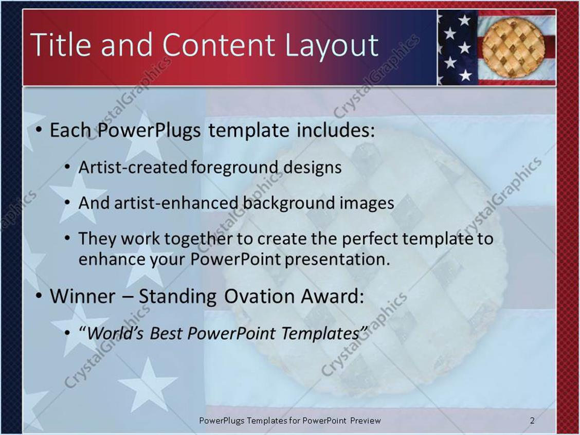 Powerpoint template apple pie sitting on american flag 1611 powerpoint products templates secure toneelgroepblik Choice Image