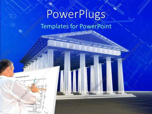 Powerpoint Template An Architect Creating A Plan With