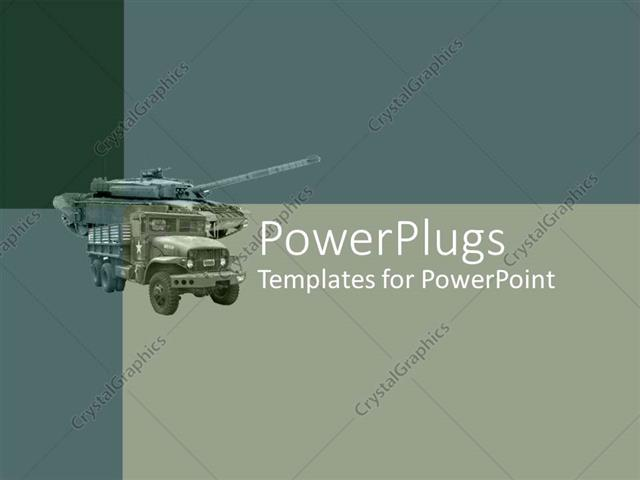 Powerpoint template army green loaded truck on an ash colored powerpoint template displaying army green loaded truck on an ash colored background toneelgroepblik Choice Image