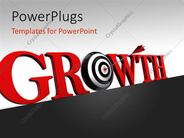 Powerpoint template arrow hitting target of o in growth 15173 powerpoint template displaying arrow hitting target of o in growth toneelgroepblik Choice Image