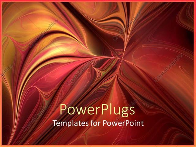PowerPoint Template Displaying Artistic 3D Display of Multi Colored Paint Art Background