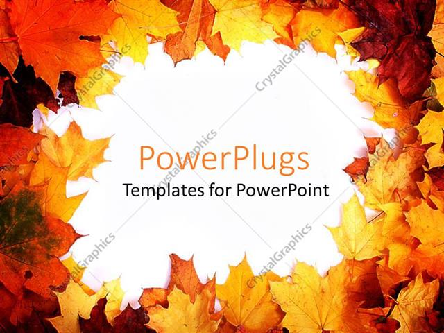 Powerpoint template autumn border with fall leaves in red orange powerpoint template displaying autumn border with fall leaves in red orange yellow and brown toneelgroepblik Choice Image