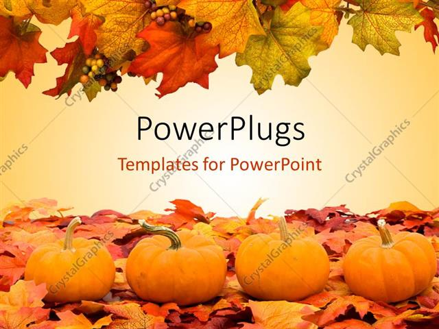 Powerpoint template autumn fall colored leaves with pumpkins powerpoint template displaying autumn fall colored leaves with pumpkins depicting halloween scene toneelgroepblik Choice Image