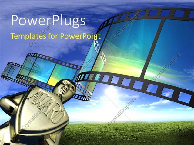 Powerpoint template award with 3d cinema film reel 12040 powerpoint template displaying award with 3d cinema film reel toneelgroepblik Choice Image