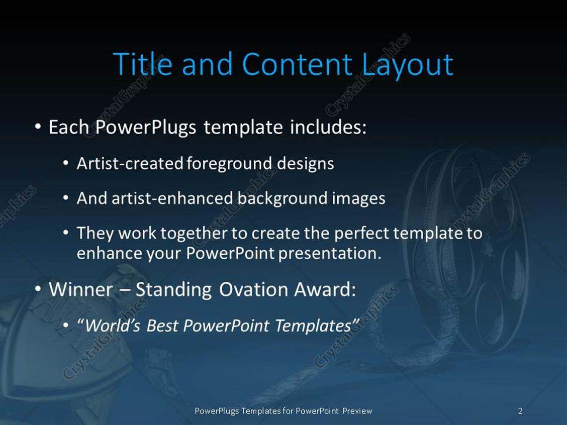 Powerpoint template award with 3d cinema film reel 12038 powerpoint products templates secure toneelgroepblik Choice Image