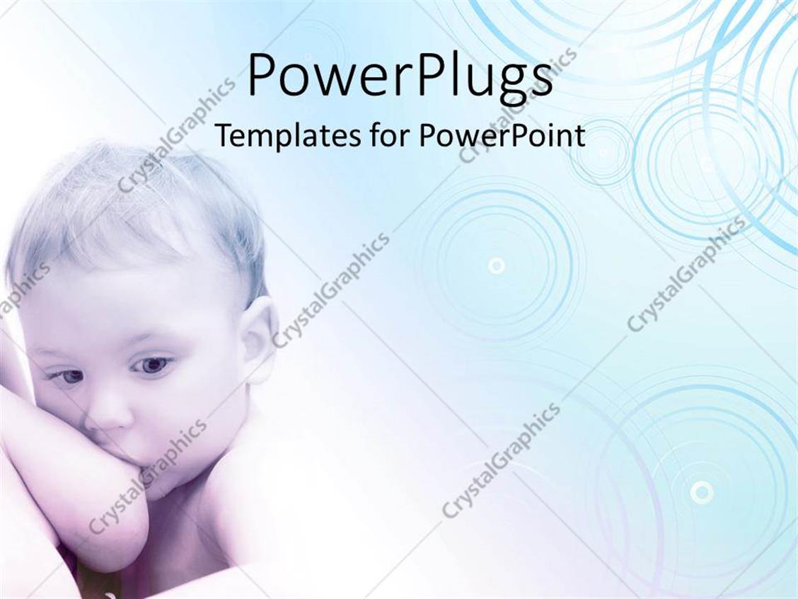 PowerPoint Template Displaying a Baby Sucking his/her Mother's Breast on a White Background