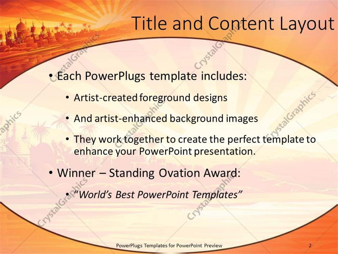 Powerpoint template a background including a palace sea and rising powerpoint products templates secure toneelgroepblik Images