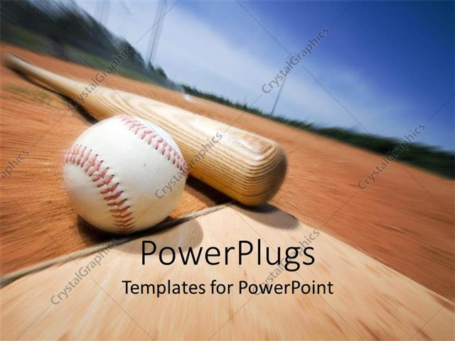 Powerpoint template a baseball and a bat with blurred background 2897 powerpoint template displaying a baseball and a bat with blurred background toneelgroepblik Image collections