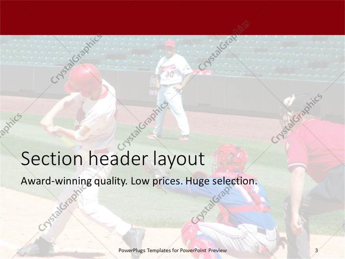 Powerpoint template a baseball hitter with empty stands in the powerpoint products templates secure standing ovation award toneelgroepblik Choice Image