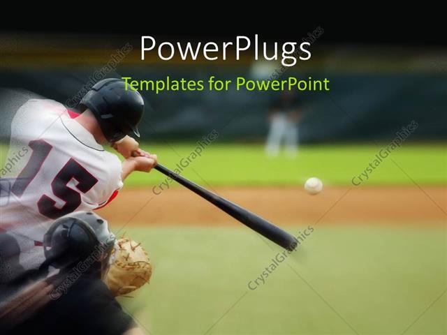 Powerpoint template baseball player immediately after hitting the powerpoint template displaying baseball player immediately after hitting the ball toneelgroepblik Gallery