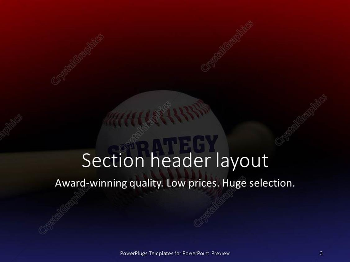 Powerpoint template baseball with text strategy written with powerpoint products templates secure standing ovation award toneelgroepblik Image collections