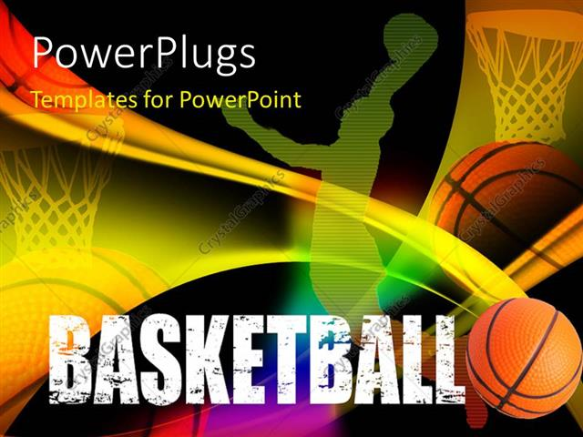 Powerpoint Template A Basketball PlayerS Representation With
