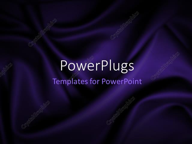 PowerPoint Template Displaying Beautiful Abstract Blue Satin Dark Background