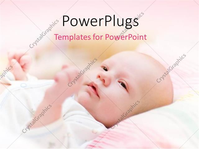 PowerPoint Template Displaying a Beautiful Child with Pinkish Background