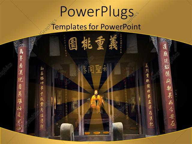 Powerpoint template beautiful chinese memorial temple with king powerpoint template displaying beautiful chinese memorial temple with king sitting on throne toneelgroepblik Images