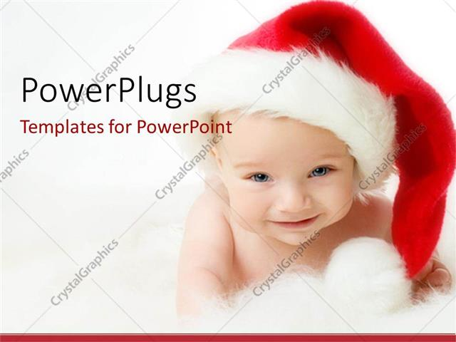 PowerPoint Template Displaying a Beautiful Depiction of a Child Celebrating Christmas