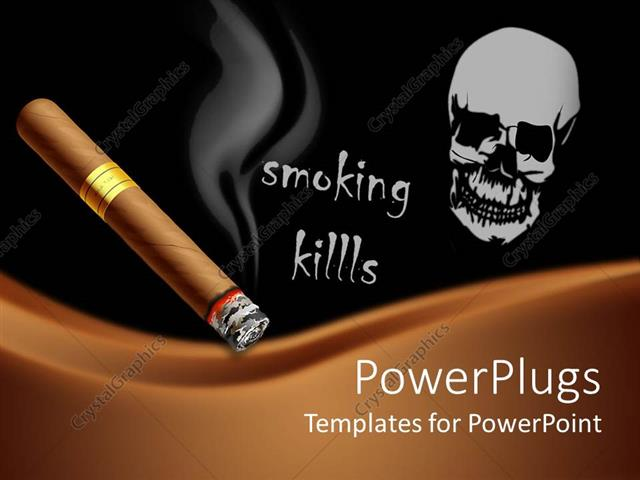 Powerpoint Template A Beautiful Depiction Of The Dangers Of Smoking