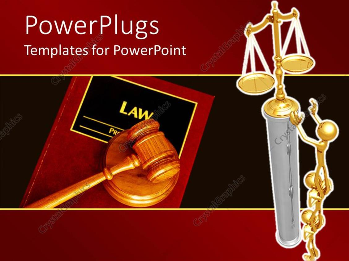 PowerPoint Template Displaying a Beautiful Depiction of People Trying to get Justice from the System