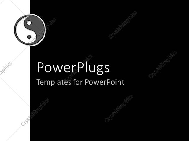 Powerpoint template a beautiful depiction of a ying yang symbol powerpoint template displaying a beautiful depiction of a ying yang symbol with black background toneelgroepblik Gallery
