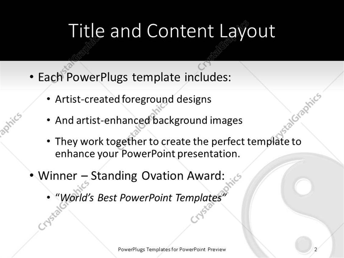 Powerpoint template a beautiful depiction of a ying yang symbol powerpoint products templates secure toneelgroepblik Gallery