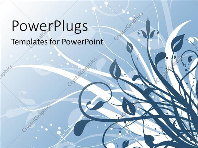 PowerPoint Template Displaying a Beautiful Floral Depiction with their Reflection in the Background
