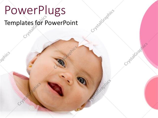 PowerPoint Template Displaying a Beautiful Kid Smiling with White Background