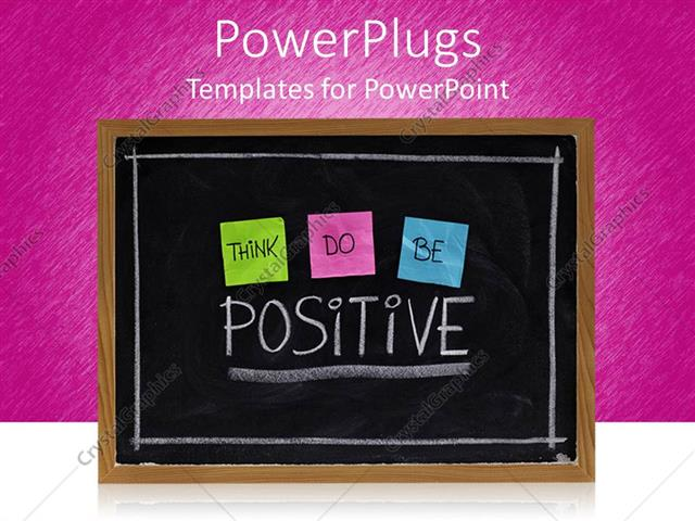 Powerpoint template a beautiful representation of a blackboard powerpoint template displaying a beautiful representation of a blackboard with thinkdo and be positive words toneelgroepblik Image collections