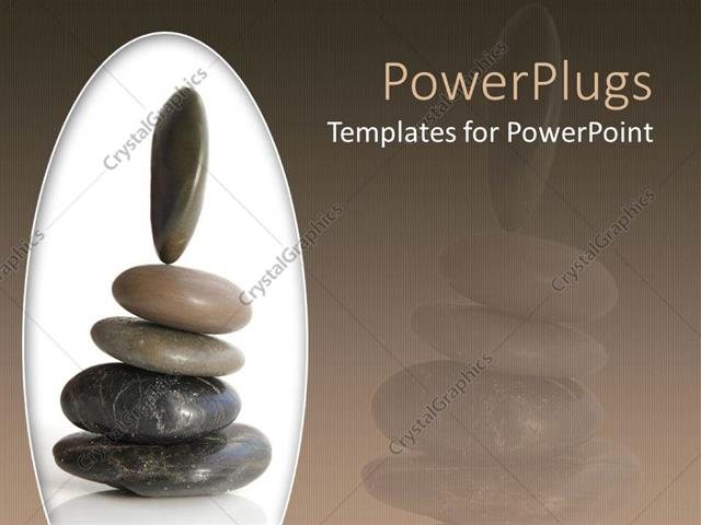 Powerpoint template a beautiful representation of a group of zen powerpoint template displaying a beautiful representation of a group of zen stones place don each other toneelgroepblik Images