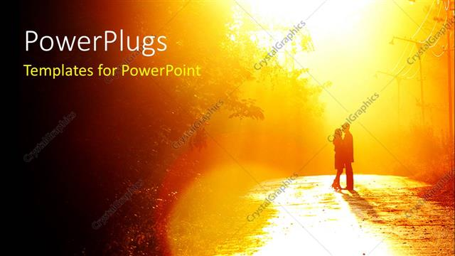 Powerpoint Template A Couple In A Romantic Environment With Trees