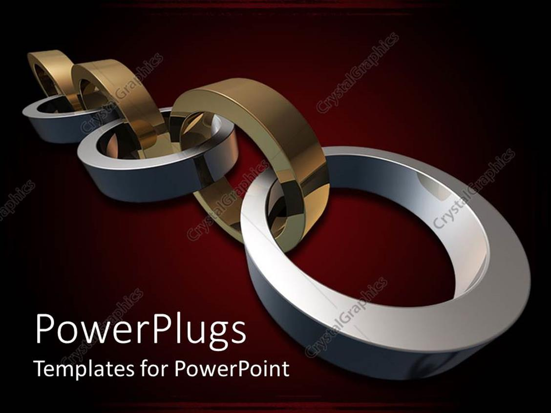 PowerPoint Template Displaying a Beautiful Stainless Steel with Reddish Background