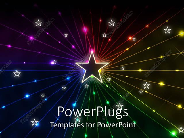 Powerpoint Template A Beautiful Star In The Middle 24490