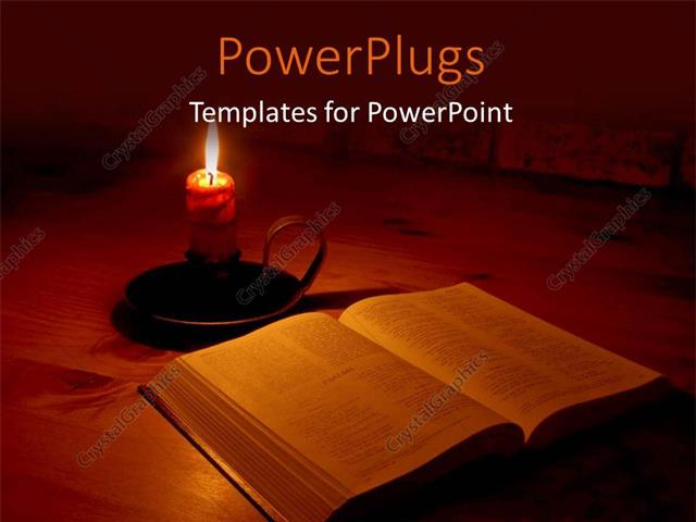 Powerpoint template the bible and a candle with its light powerpoint template displaying the bible and a candle with its light surrounding the bible toneelgroepblik Choice Image