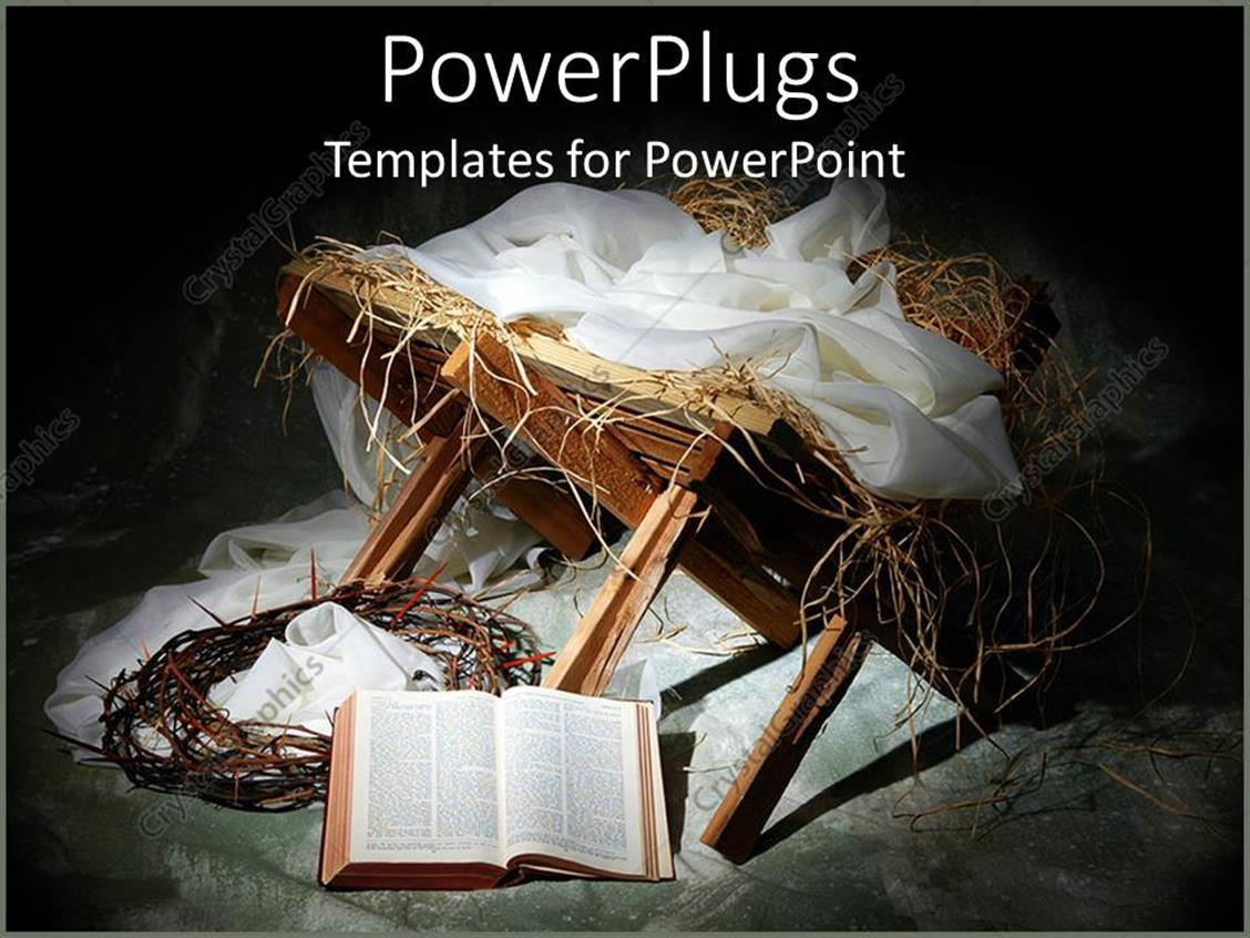 PowerPoint Template: Bible theme with items reminding of ...